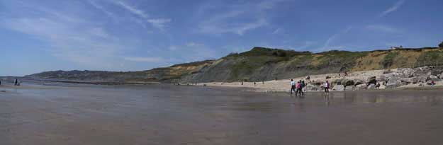 Charmouth Beach low tide